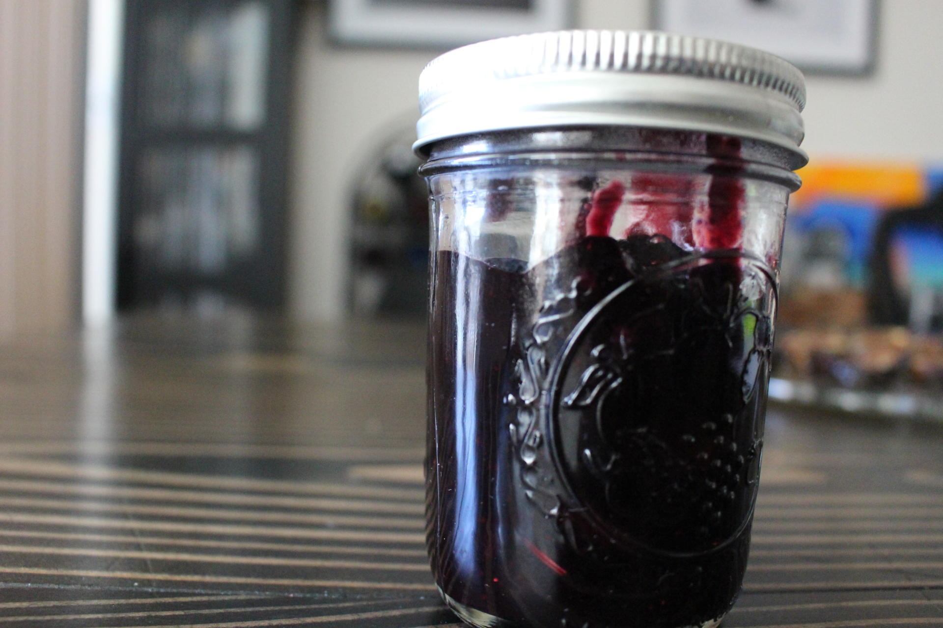 SAUCES AND SPREADS: Homemade Blueberry Cherry Jam