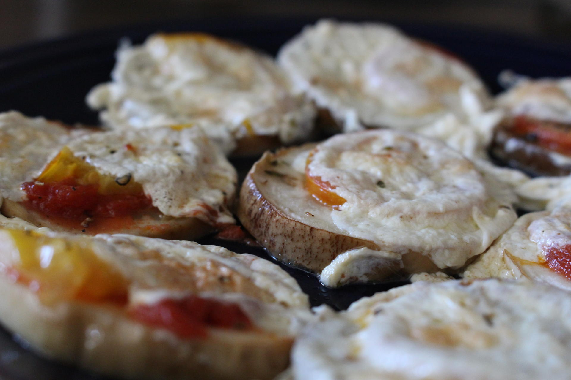 CHEESY: Eggplant Pizza Melts