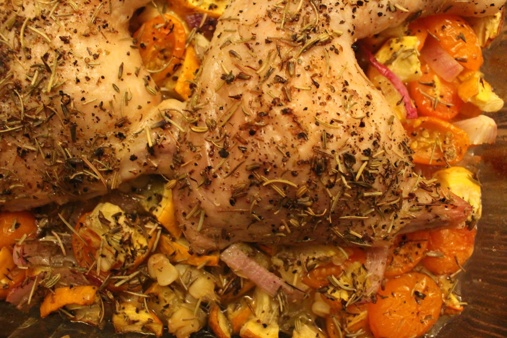 ONE PAN: Herbs de Provence Harvest Chicken by New Jersey foodie blogger What's For Dinner Esq.