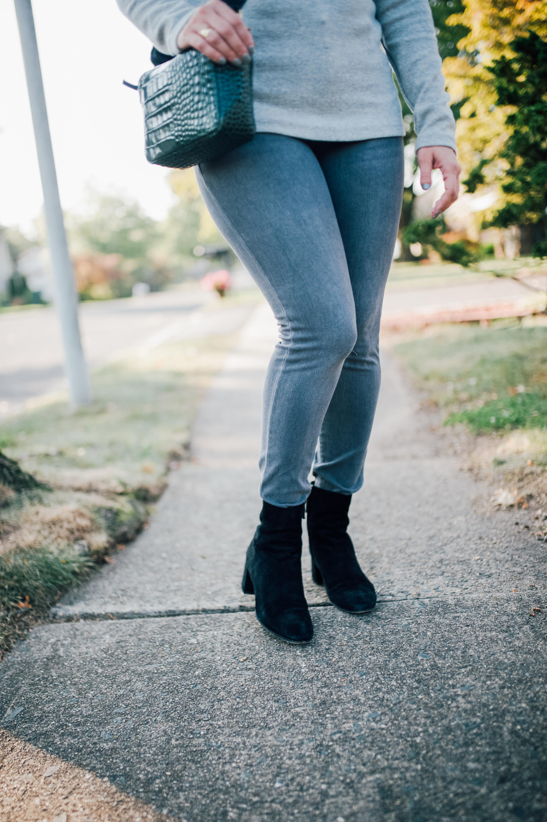 STYLE: Buttons and Fall Booties by New Jersey lifestyle blogger What's For Dinner Esq.
