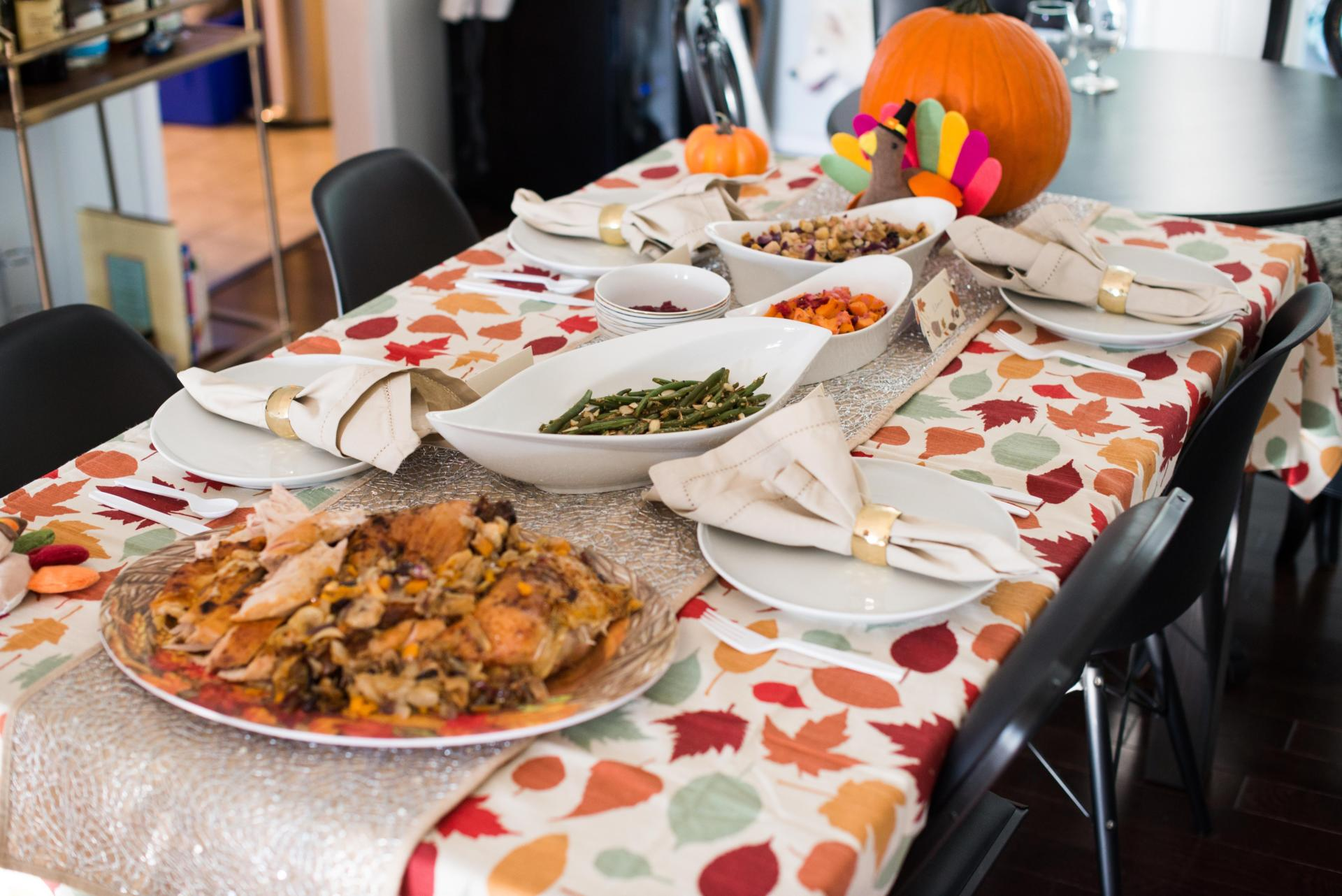 CELEBRATE: Friendsgiving and a Roasted Spatchcock Turkey by New Jersey foodie blogger What's For Dinner Esq.