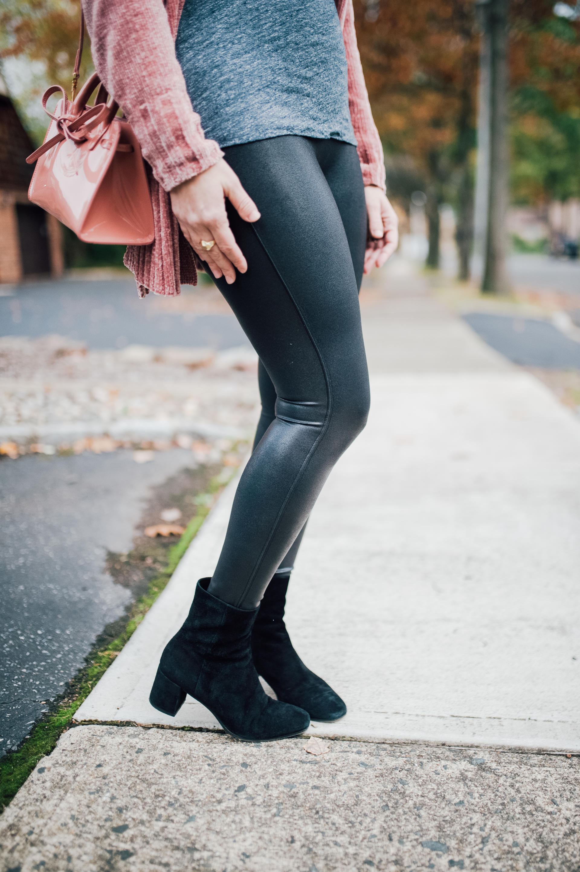 Spanx Black Leggings Are Girl's Best Friend by New Jersey style blogger What's For Dinner Esq.