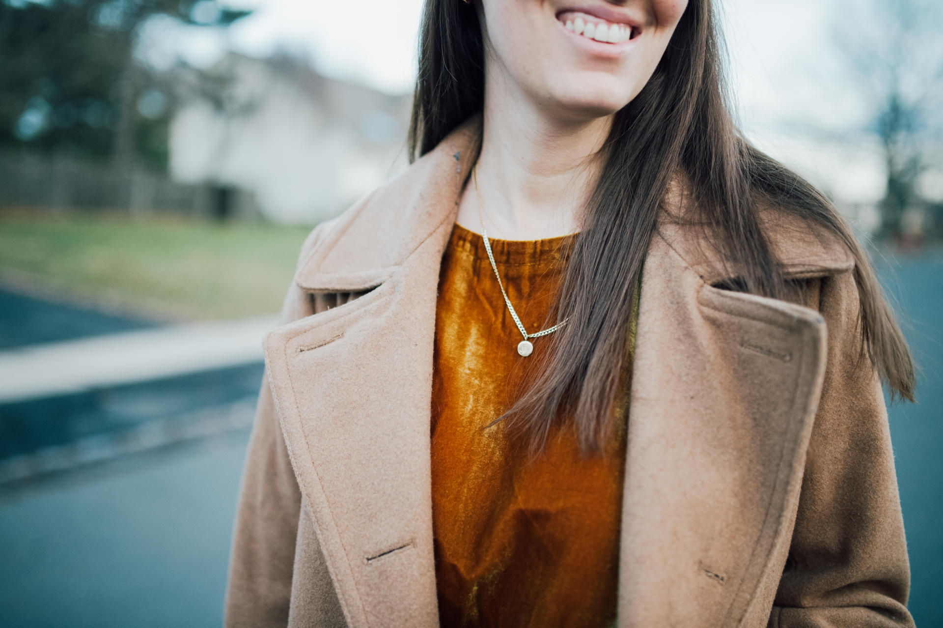 GAP camel winter coat by popular New Jersey fashion blogger What's For Dinner Esq.