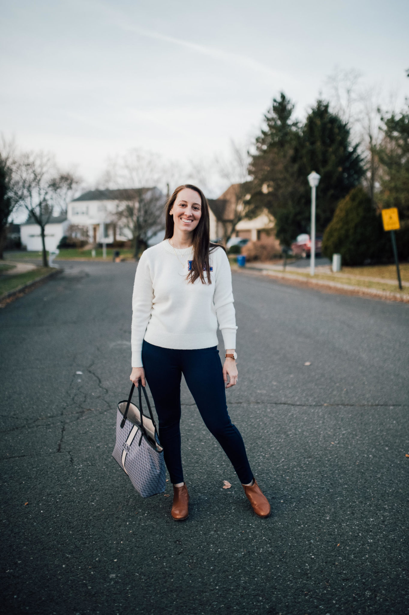 Easy workwear outfit by popular New Jersey blogger What's For Dinner Esq.